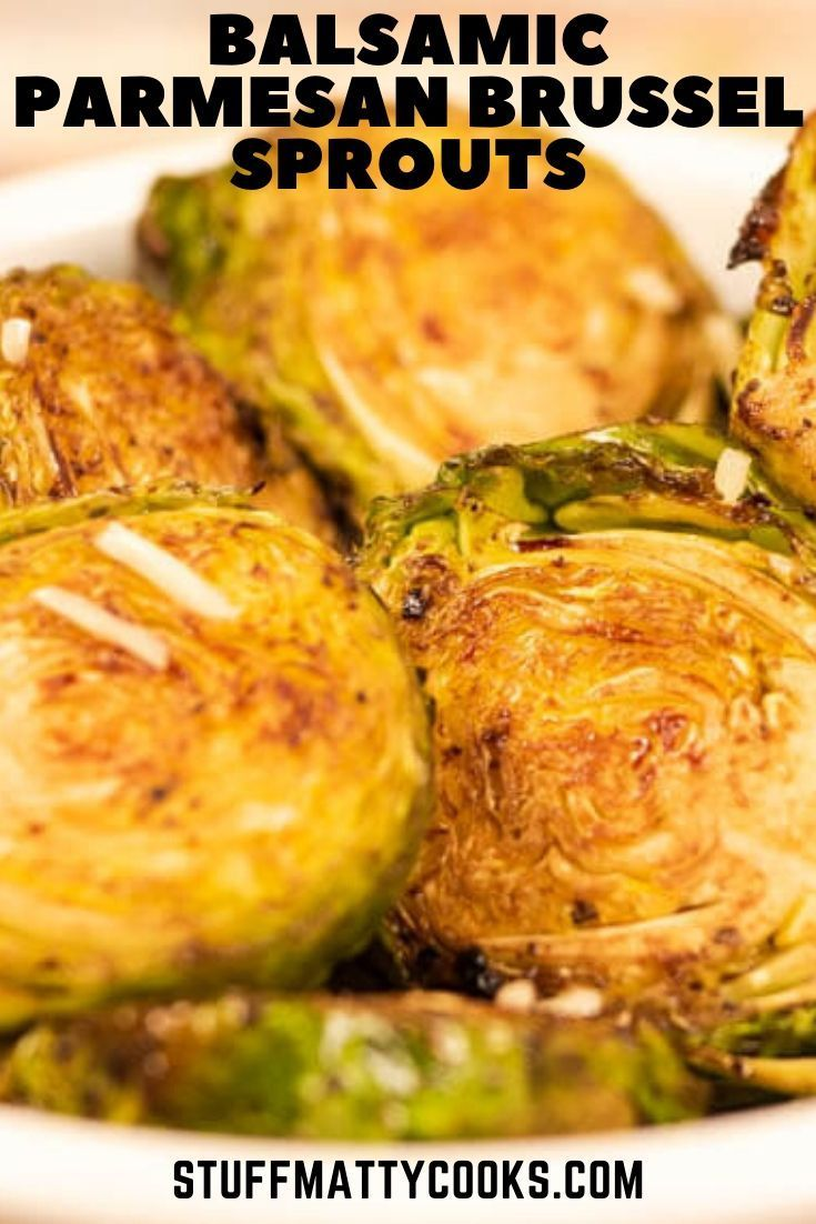 Balsamic Parmesan Roasted Brussel Sprouts Recipe Sweet