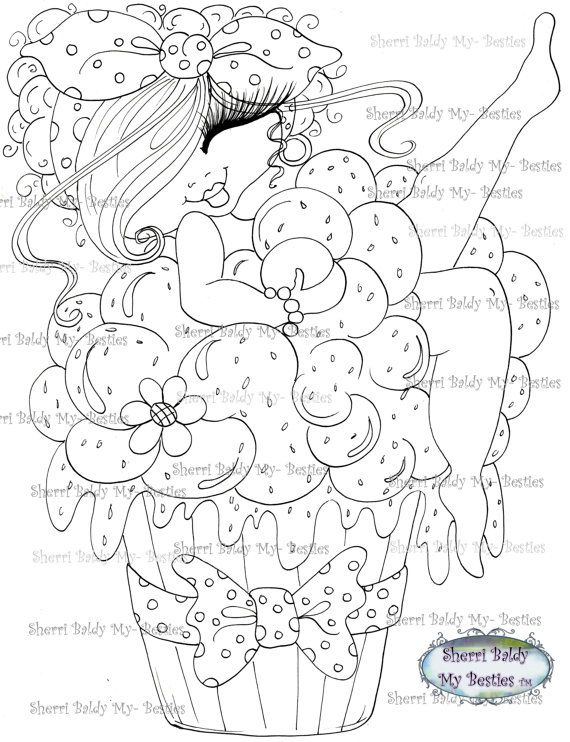 INSTANT DOWMLOAD Digital Digi Stamps Big Eye Big Head