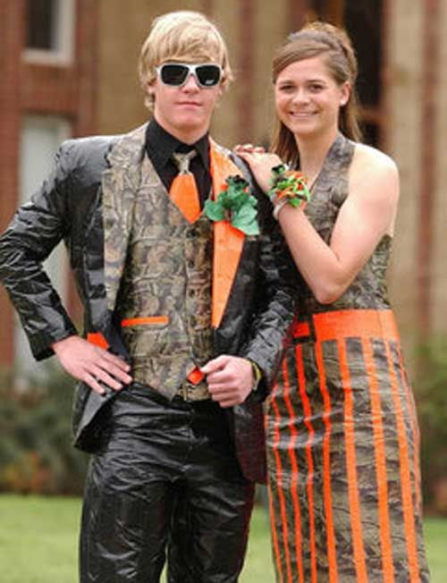 I like how the camo just adds accents | Prom | Pinterest | Duct tape ...