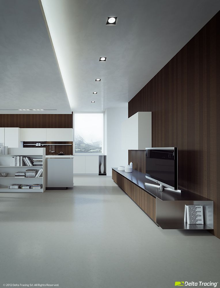3D Visualization - Kitchen. Sample production image.