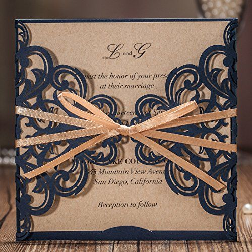 buy now   $78.99     (adsbygoogle = window.adsbygoogle || []).push();  Occasion: Wedding,Engagement, Bridal Shower, Baby Shower, Birthday, Quinceanera, Graduation as well as other parties Brand Name: Wishmade Color: Navy Blue pocket, kraft inner sheet Material: Paperboard Card Formats:...