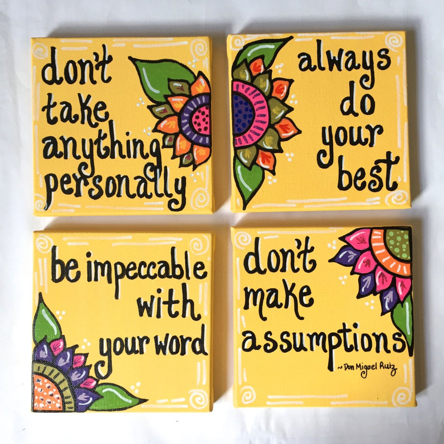 The Four Agreements Quotes Endearing The Four Agreementscreatingcadence On Etsy  Creating Cadence . Decorating Design