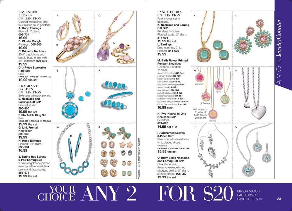 Online Brochure by Avon jewelry, Avon, Avon campaign