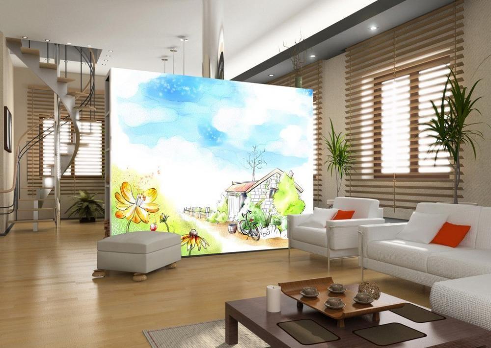 interior design, beautiful partition design in livingroom with