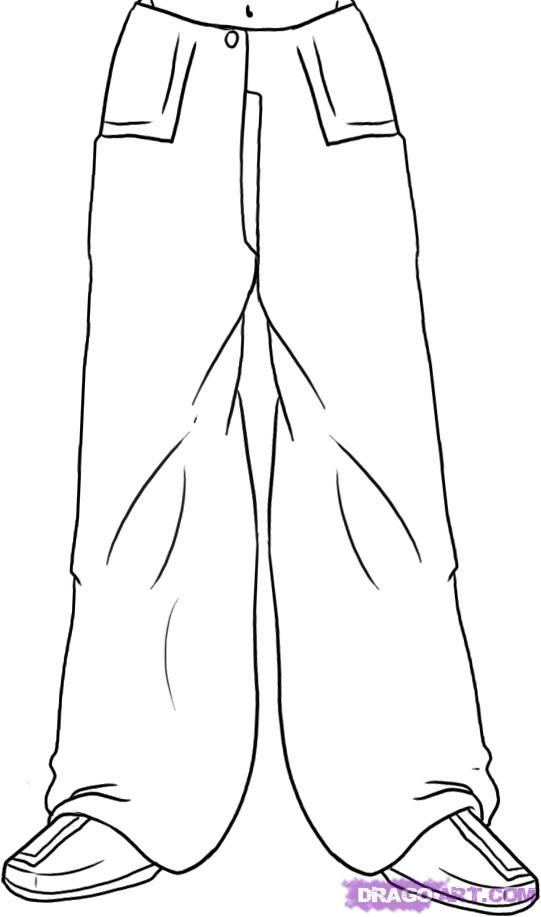how to draw anime pants step by step for beginners