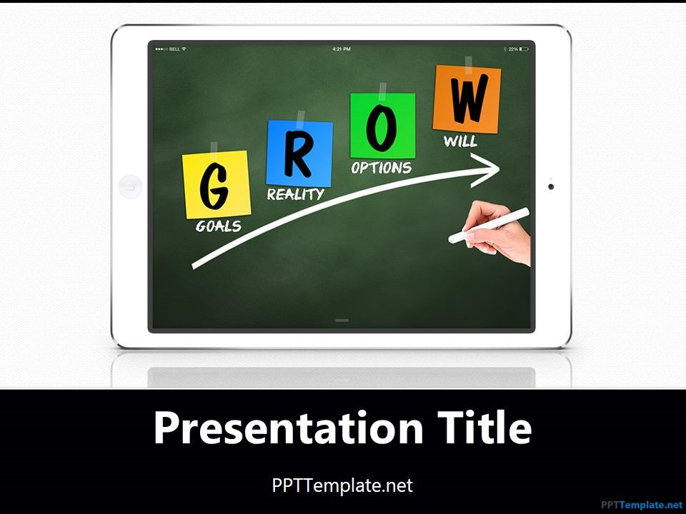 Free ipad grow chalkhand white ppt template free powerpoint free ipad grow chalkhand white ppt template toneelgroepblik Gallery