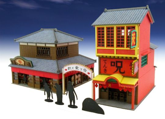 Studio Ghibli Spirited Away Pig Restaurant Paper Craft Kit ペーパークラフト 建築模型 ペーパーアート