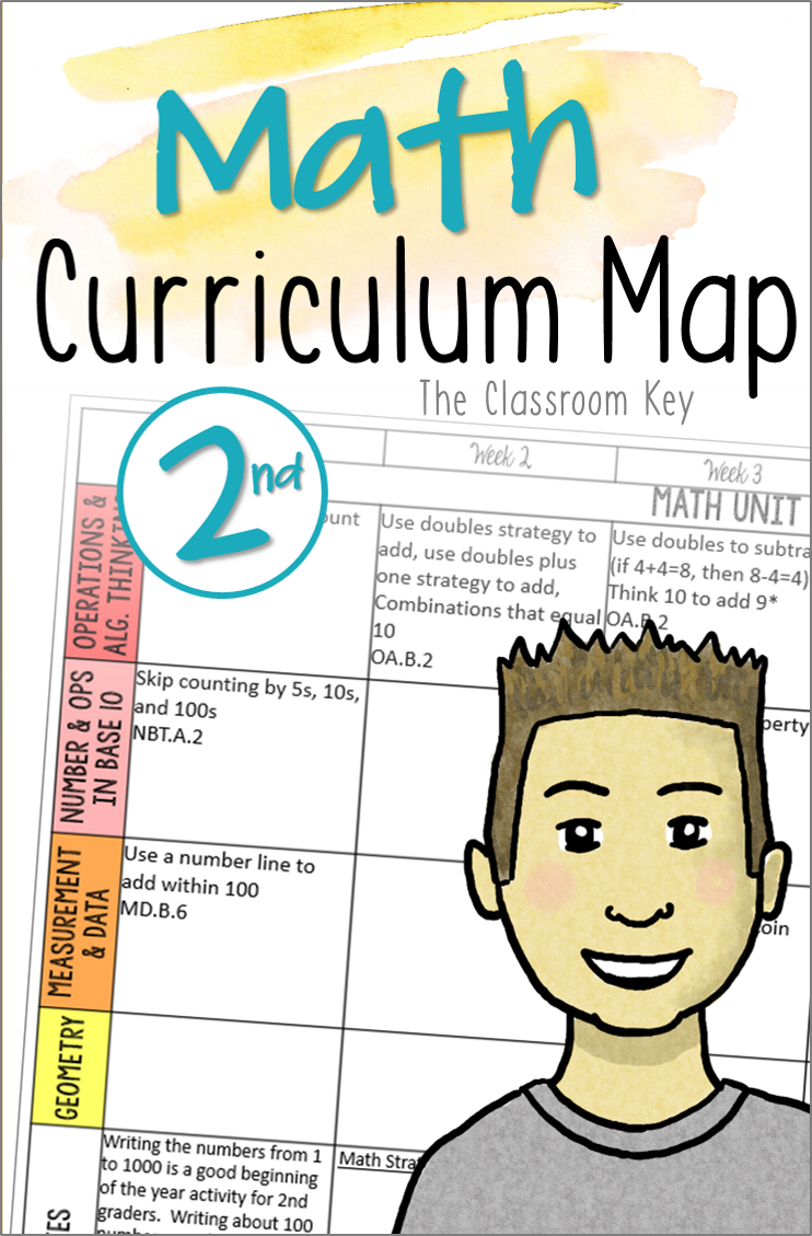 Math Mon Core Curriculum Map For 2nd