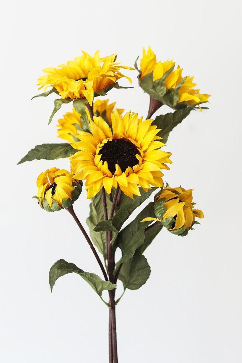Yellow Fake Sunflower Fall Flowers 32 In 2020 Fall Flowers Silk Flowers Wedding Fall Floral Arrangements