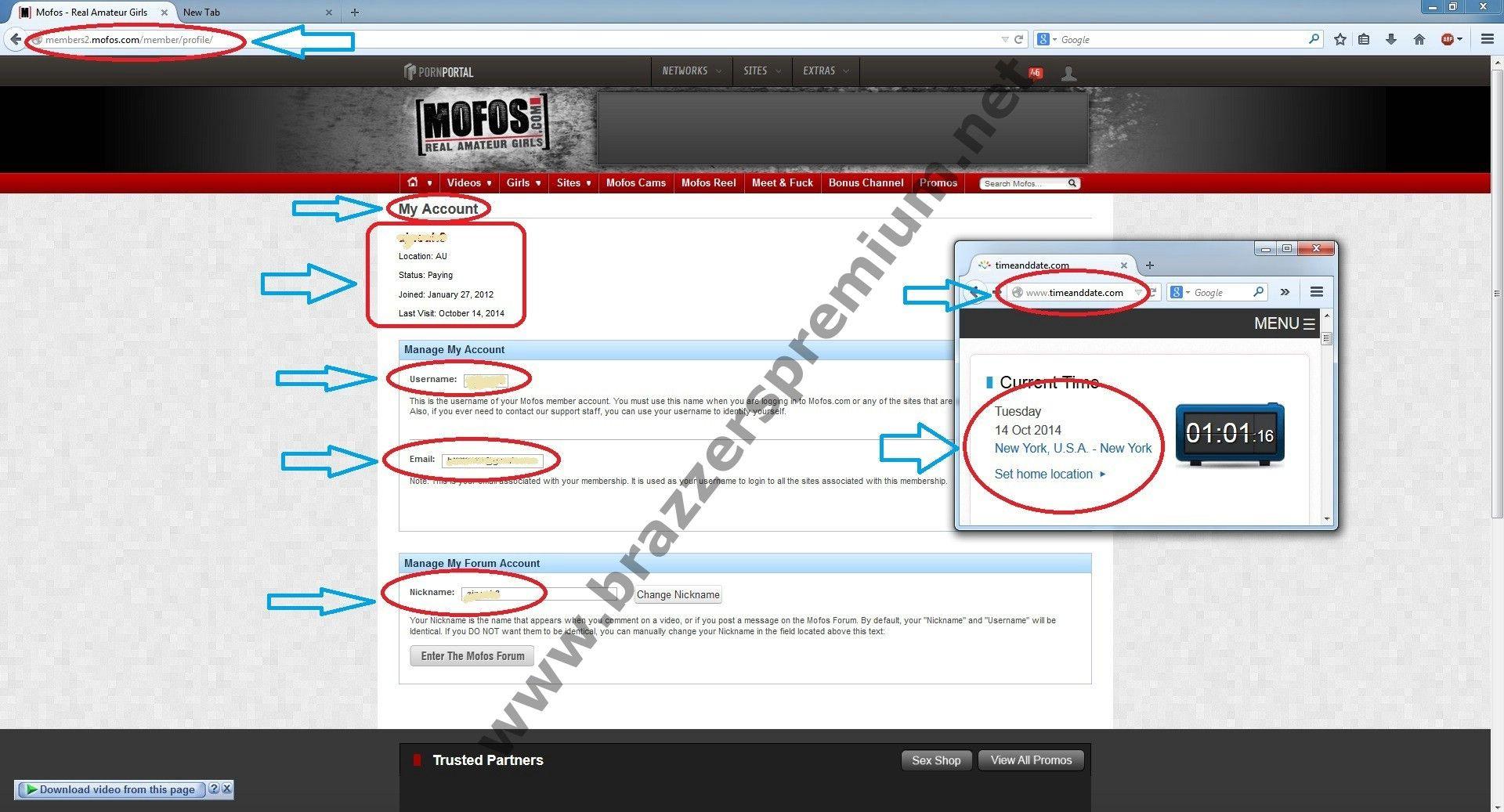 Mofos member account