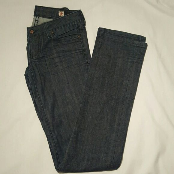 People's Liberation Jeans People's Liberation dark denim jeans with stitching on back pockets. People's Liberation  Jeans Boot Cut
