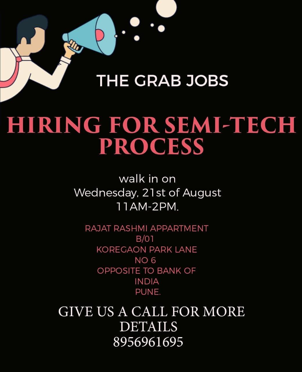 Grab The Opportunity Call 8956961699 Jobvacancy