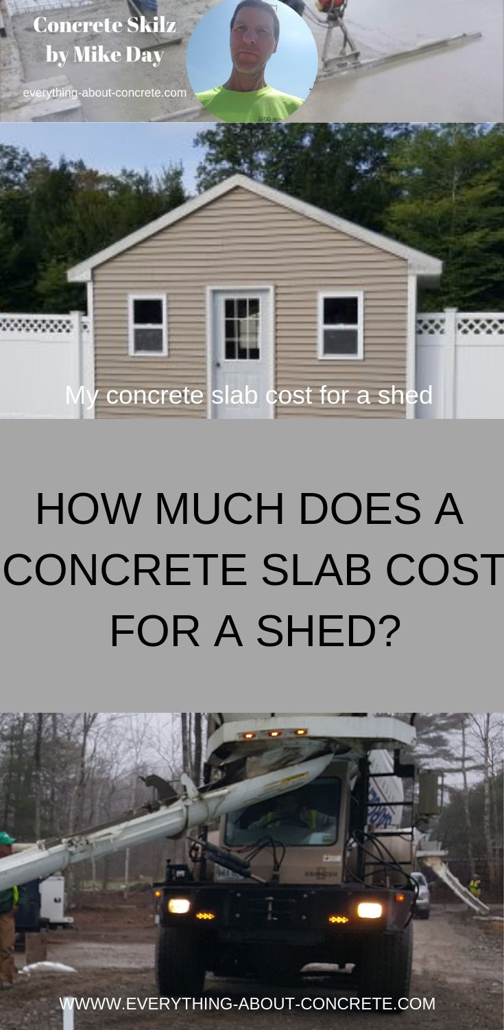 How much does a concrete slab cost for a shed?   Concrete ...