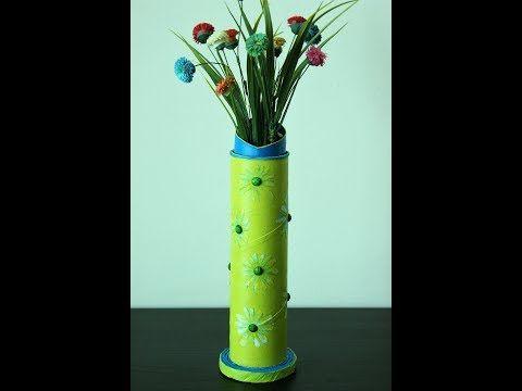 Youtube Cardboard Tube Flowers Vase Rrr Pinterest Flower