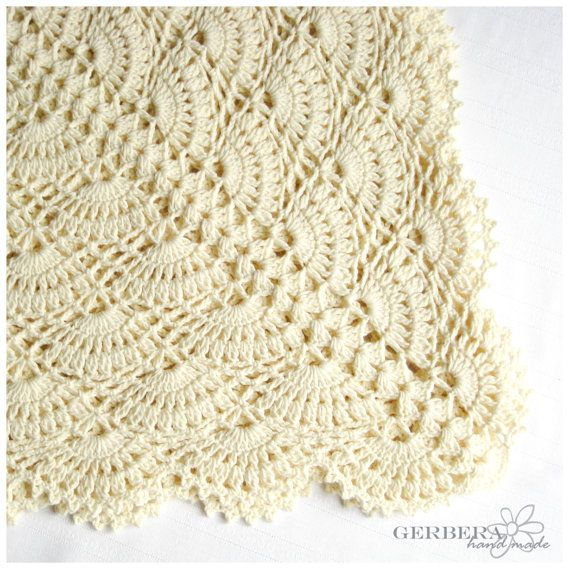 Crochet Pattern Baby Blanket Tutorial Crochet Pdf Creame Baby