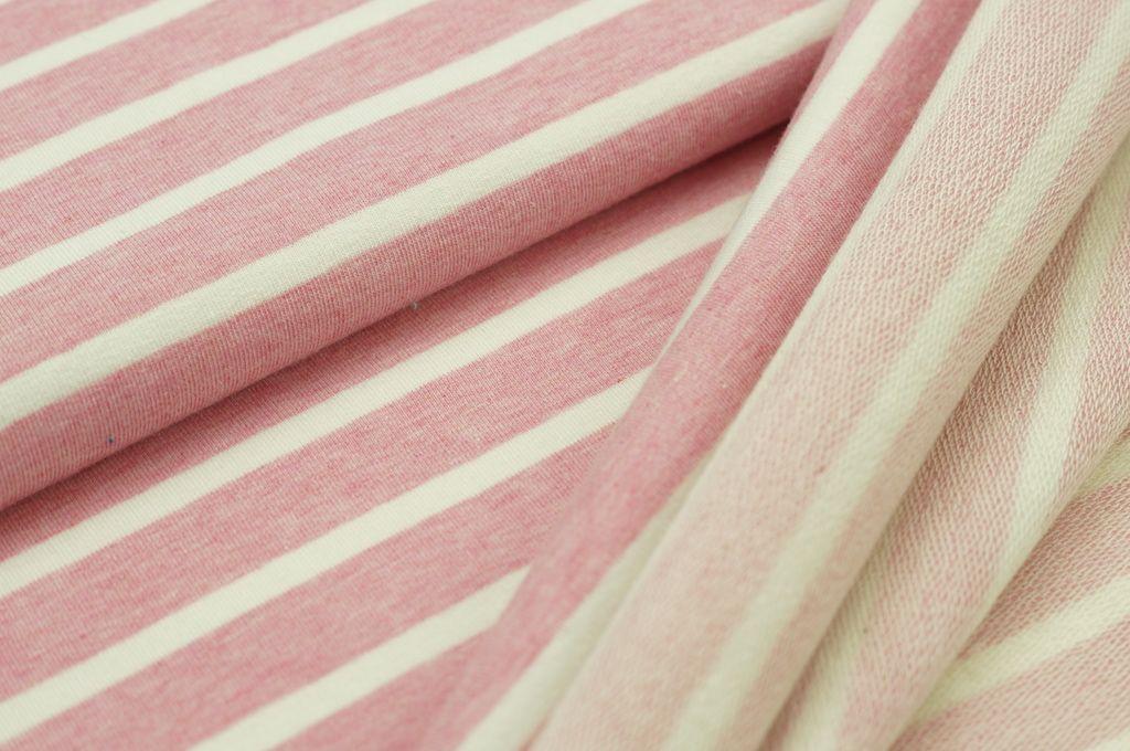 Xxl Baumwollsweat Maya Melange Streifen Mittel Breit Pastell Pink Off White Derzeit Vergriffen Maya Pink Und Pastell