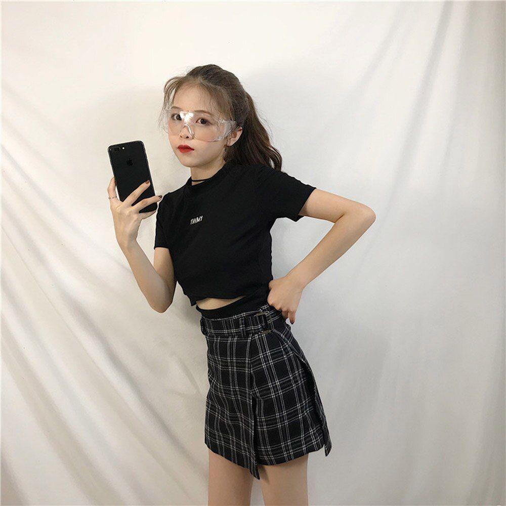 Harajuku Print Korean Y2K Cute Mini Skirts Women Summer