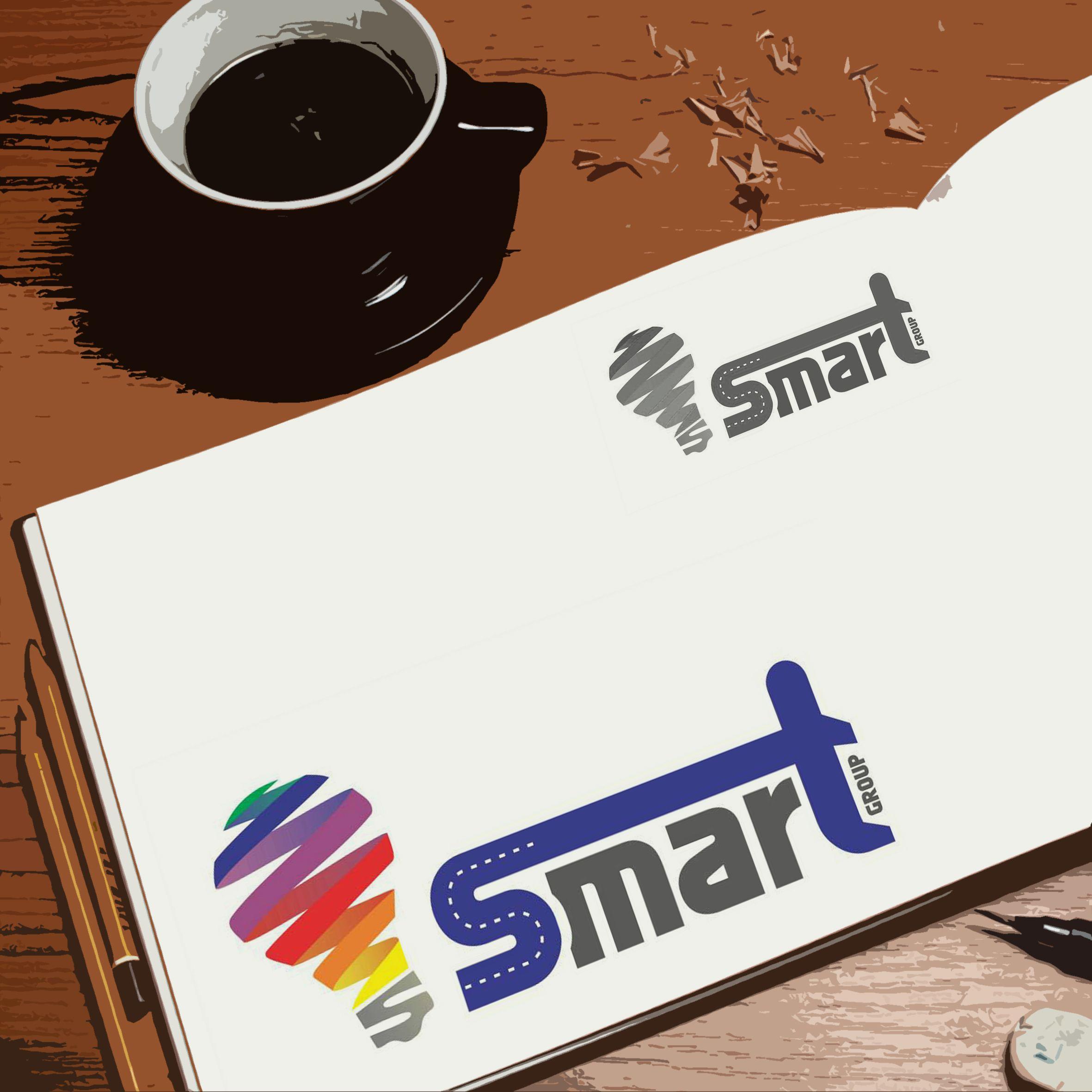 Criação de logotipo para o grupo empresarial Smart Group por Foco Design & Gráfica.