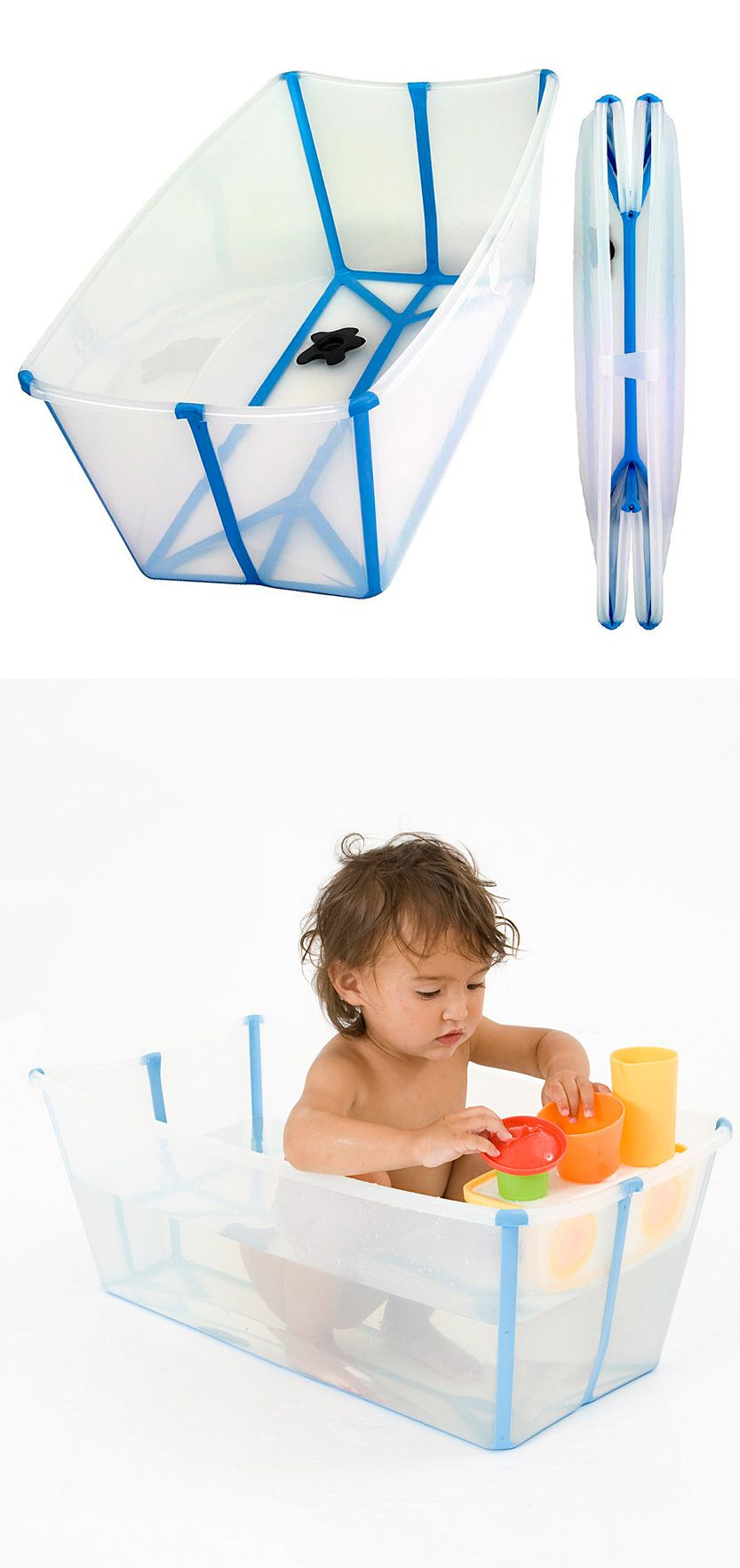FlexiBath // folds up to store flat! A fold up baby bath tub ...