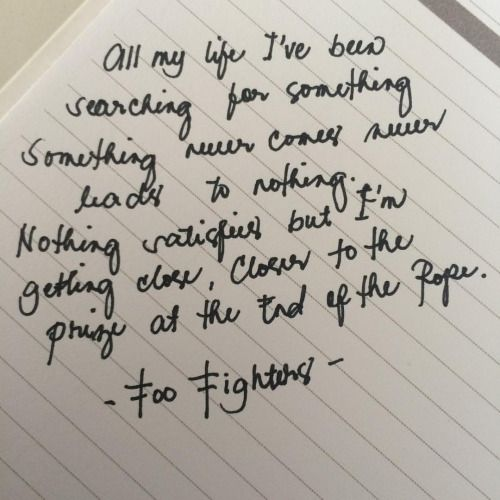 me:ellenie • All my life! #FooFighters #Lyrics