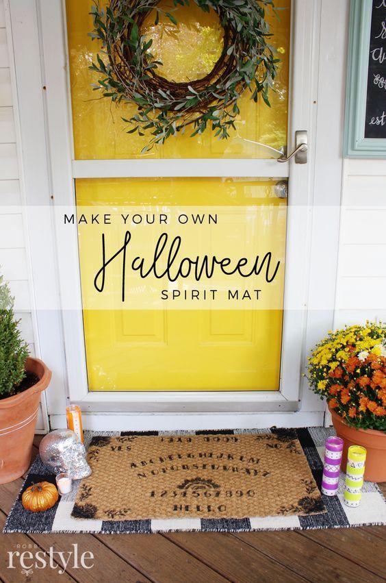 DIY Halloween Spirit Board Mat - Ouija Board Halloween Decor Crafts