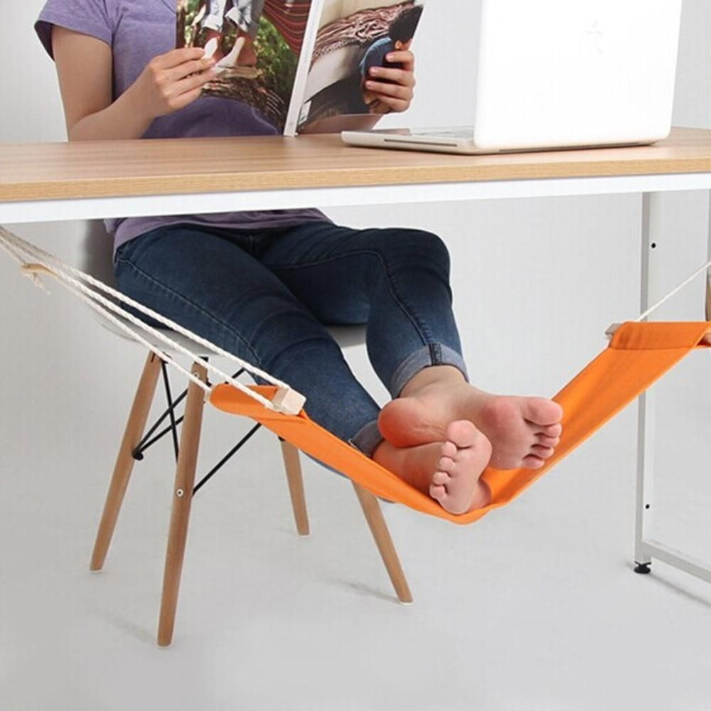 New Office Foot Rest Stand Desk Feet Hammock Easy To Disassemble Study Indoor Orange 60 16cm Free Shipping Mini Office Adjustable Desk Foot Rest