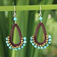 Crochet earrings by Chuleekorn from Thailand - Novica website #beautifulviews