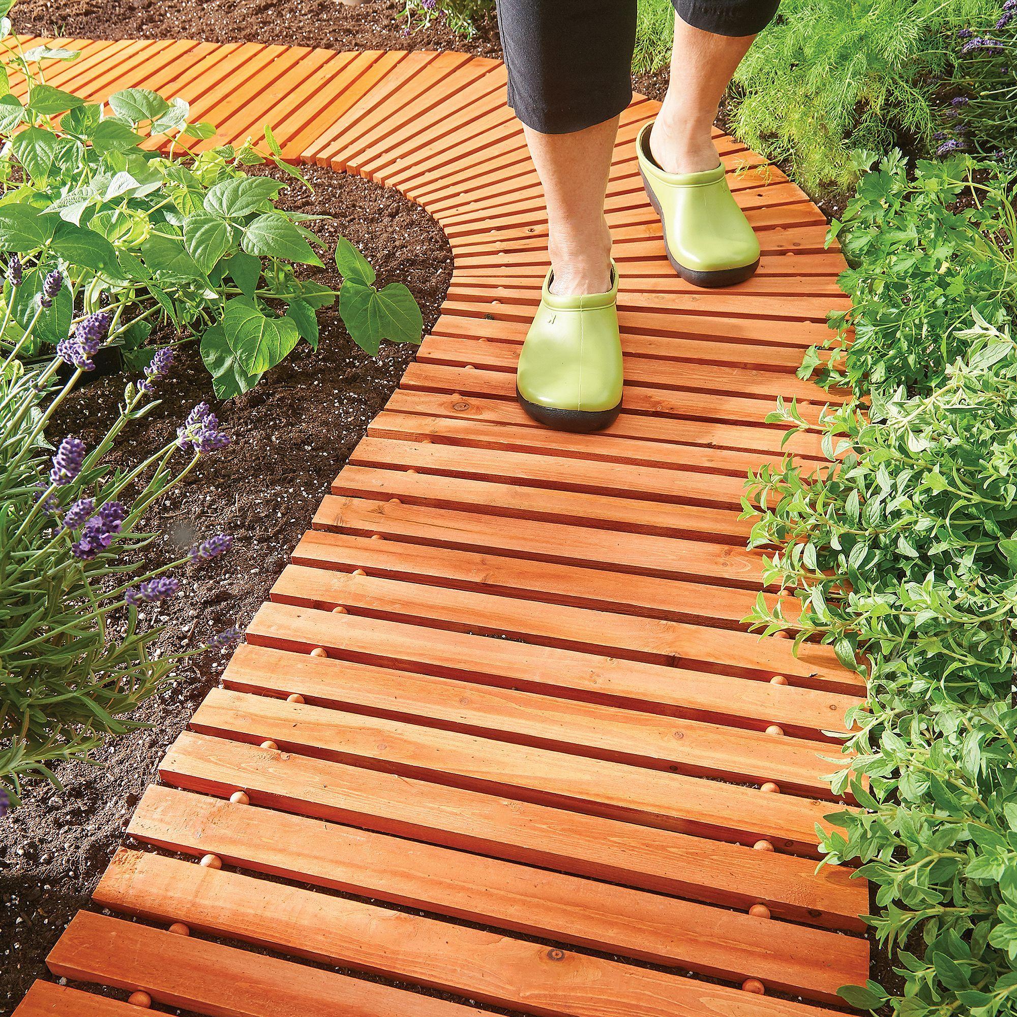 Portable Wooden Walkways   Improvements   Garden in the ...