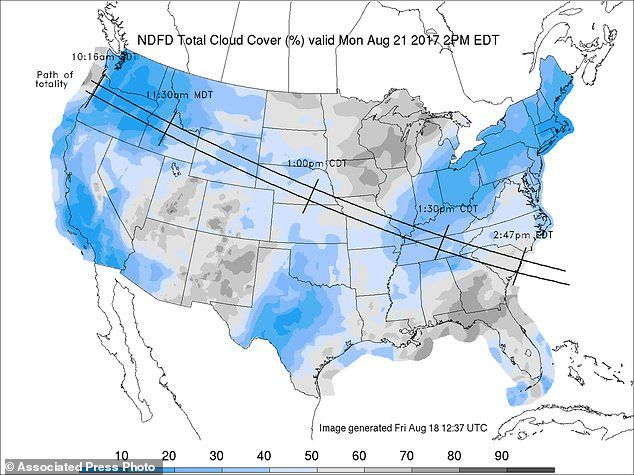 Solar Eclipse Weather Forecast Looks Clear In West But Rainy In East