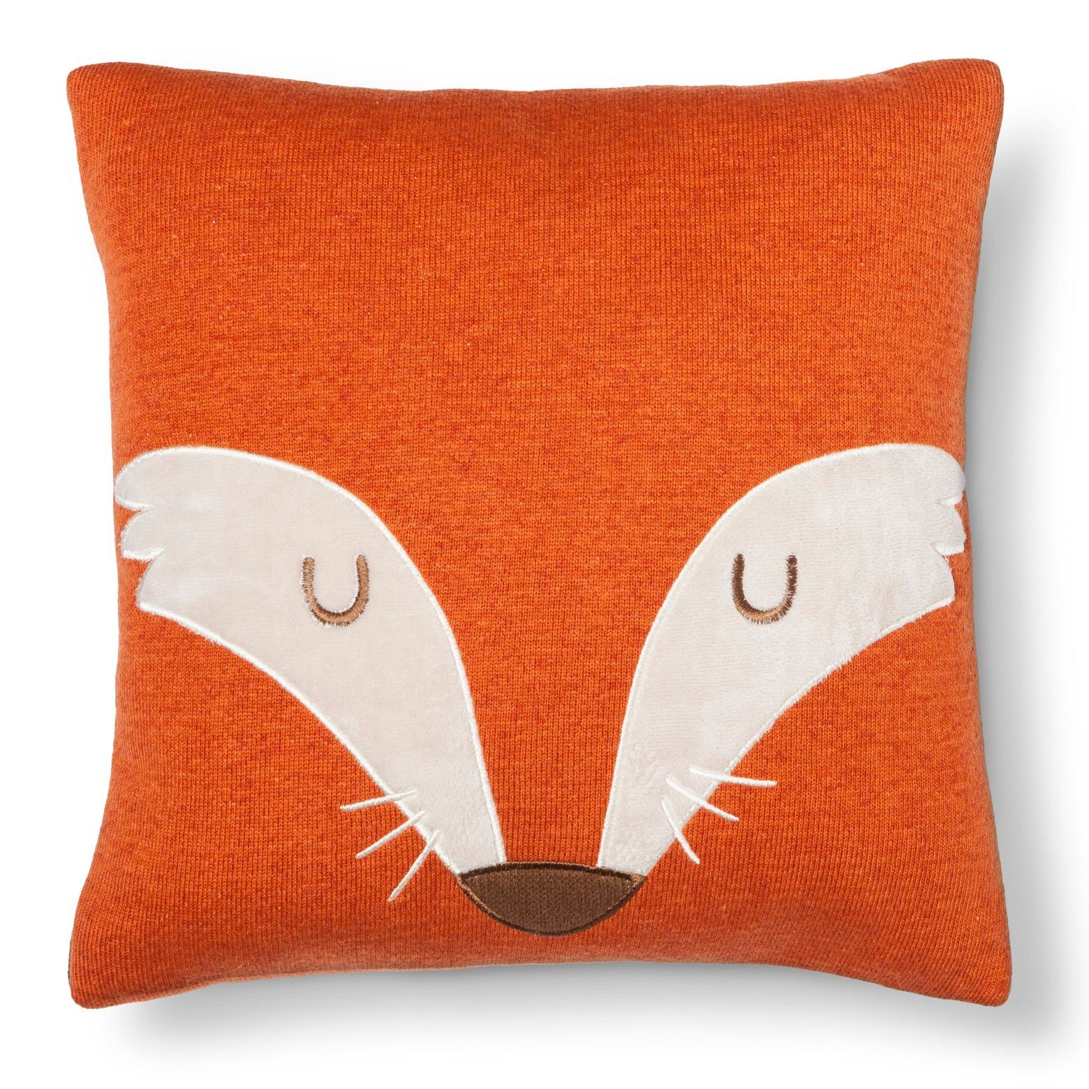decoration theme item in pillow bed cushion printing cover sofa gift kids decor case fox throw home square from