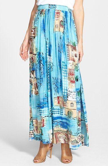 NIC+ZOE 'Grecian Getaway' Maxi Skirt