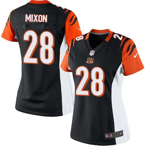 Cheap Women's Nike Cincinnati Bengals #28 Joe Mixon Limited Black Team  for cheap