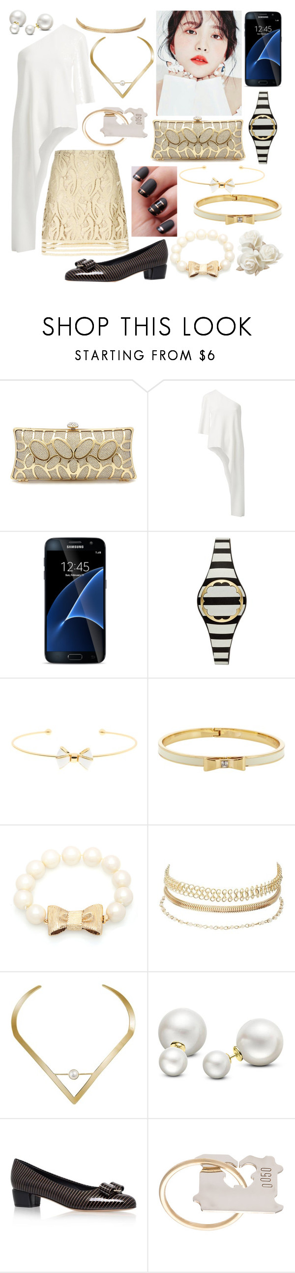"""Engagement Party"" by demeyaxd ❤ liked on Polyvore featuring GET LOST, Witchery, Samsung, Kate Spade, Ted Baker, Charlotte Russe, Edge of Ember, Allurez, Salvatore Ferragamo and Lauren Klassen"