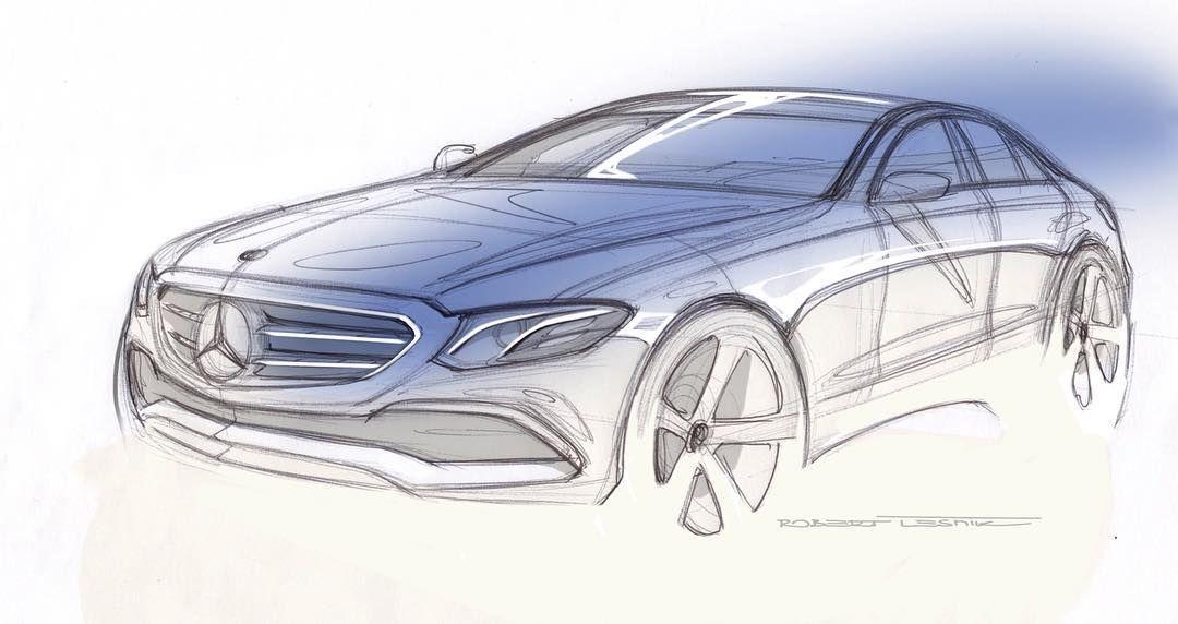Mercedes Benz E Class Sketch By Robert Lesnik 2016 Mercedes E Class Benz E Class Benz E