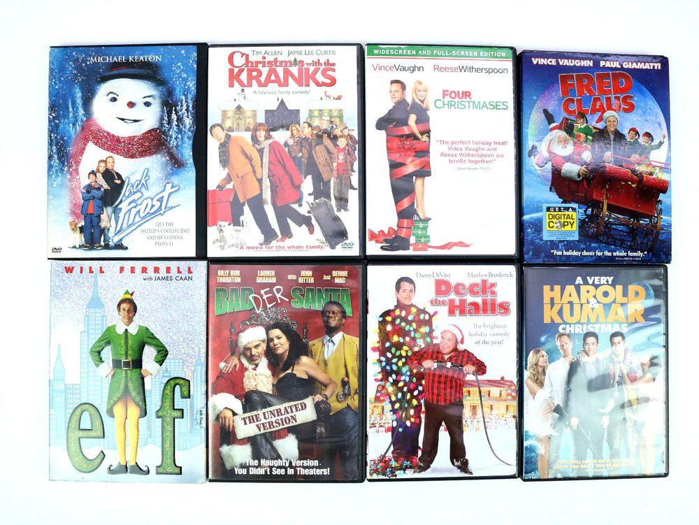 Kids Movie X Mas Dvd Lot Of 8 Movies Family Christmas Elf Tim Allen Danny Devito Kid Movies Christmas Elf Vintage Movies