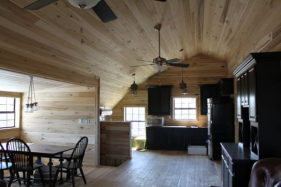 Open interior barn house all wood quality custom wood for Pole barn house interior designs