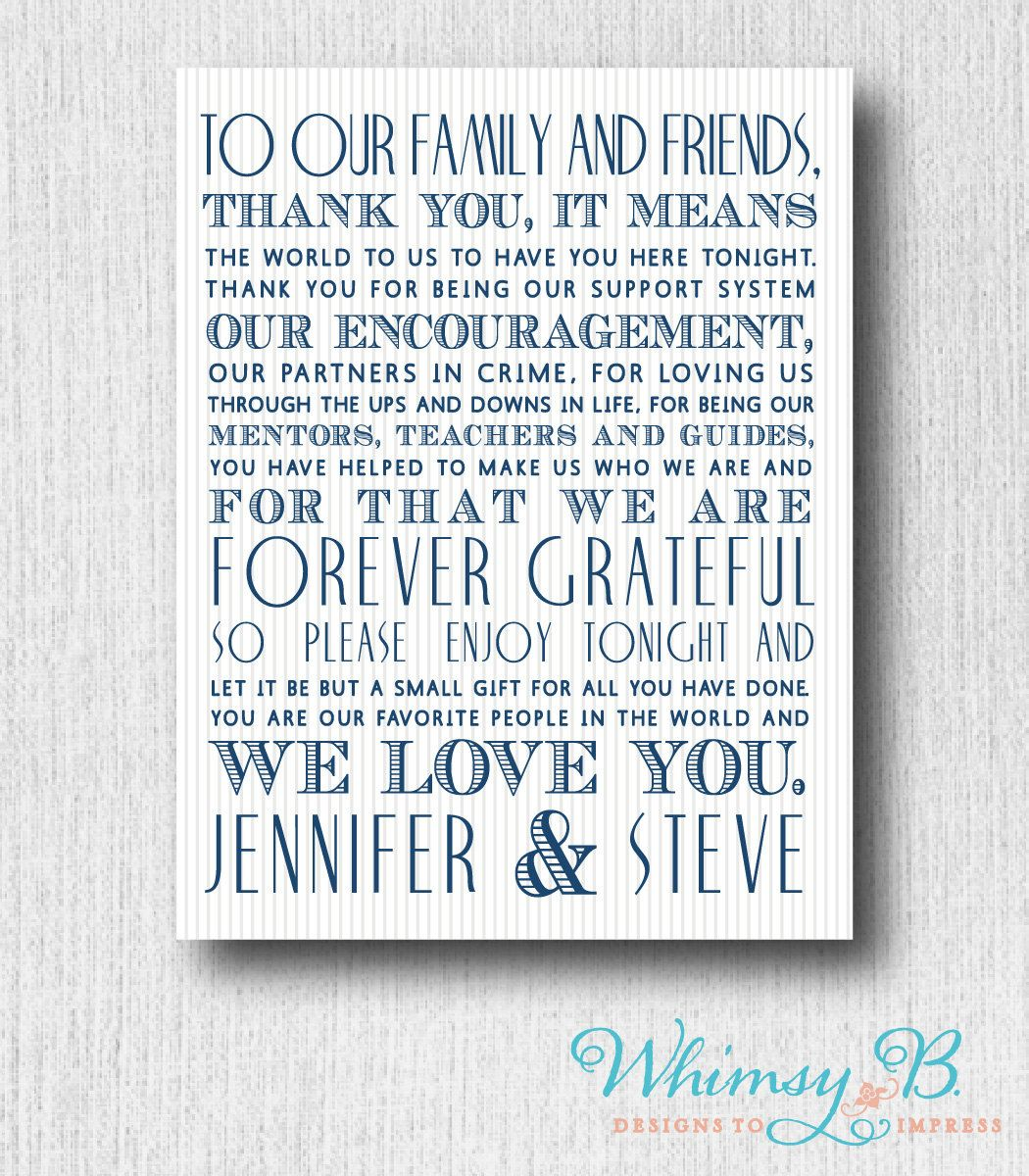Wedding Day Thank You Guest Letter Card Printable