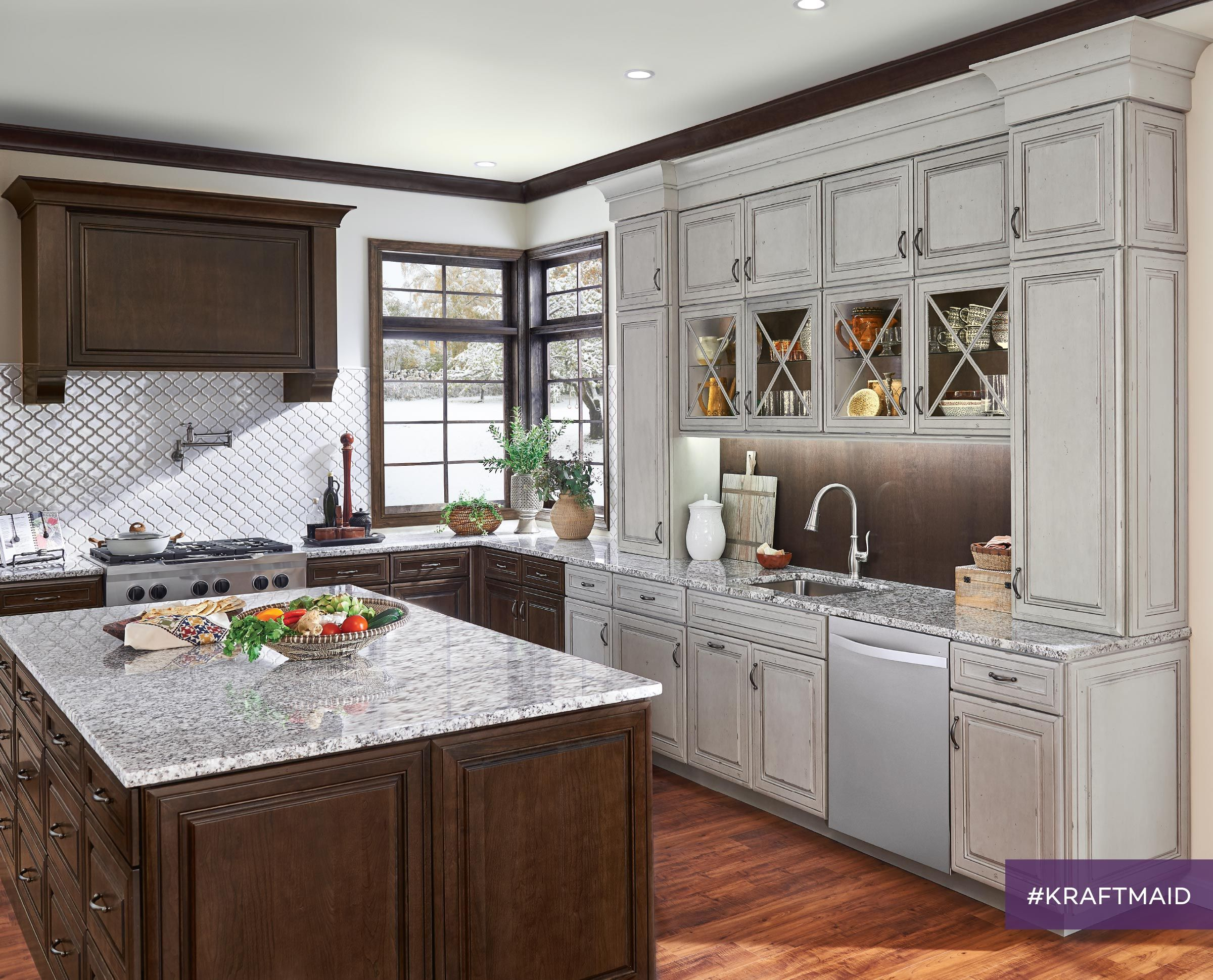 Glass Cabinet Doors Keep Your Favorite Items On Display But Out Of Little Ones Reach Custom Kitchen Remodel Kitchen And Bath Showroom Kitchen Cabinet Design