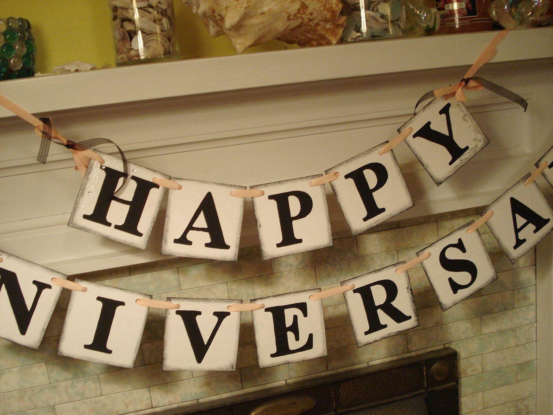 Happy anniversary banner retirement party prop golden anniversary