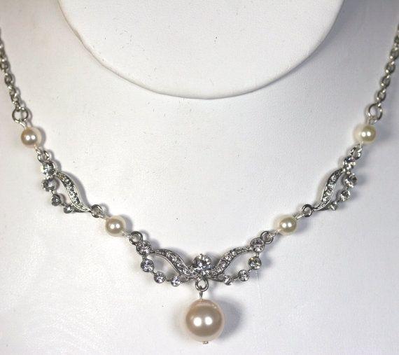 Crystal and Swarovski pearl Art deco style by LavenderBlueBridal, £42.00