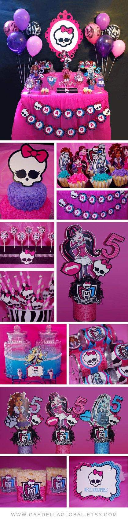 Monster High Birthday Party Ideas | Monster high party, Monster ...