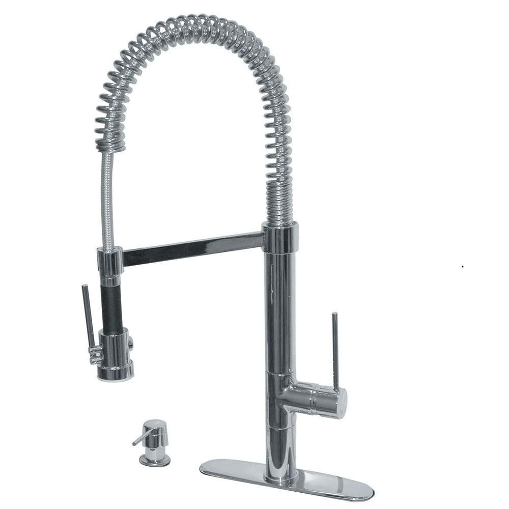 Pegasus 78pw557lfex Marilyn Commercial Single Handle Pull Down Kitchen Faucet With Soap Dispenser In Brus Kitchen Faucet Commercial Kitchen Faucet Faucet Parts