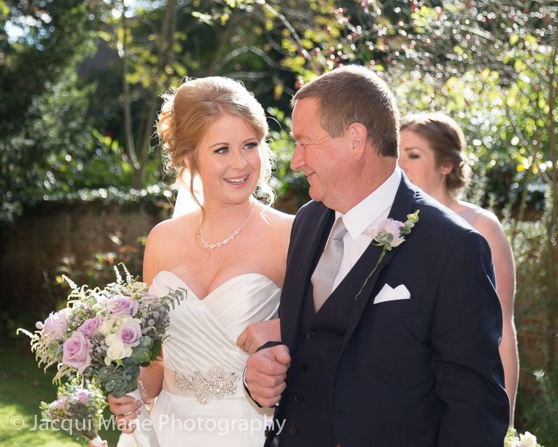 A Very Proud Dad Leads His Gorgeous Daughter To The Church For Her Wedding Ceremony Photographed By Hampshire Photographers Jacqui Marie