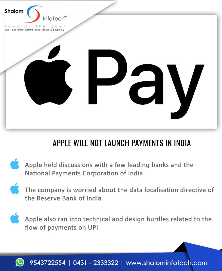 Apple inc has shelved plans to introduce apple pay a