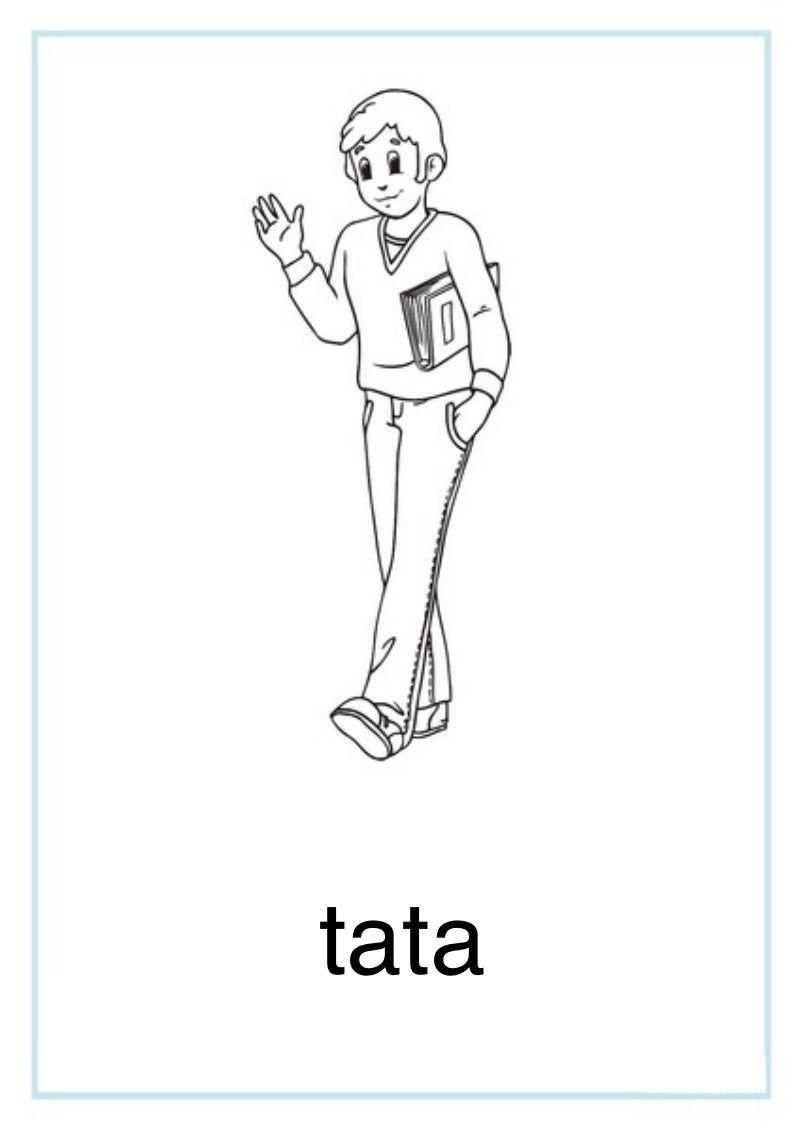 Tablice Edukacyjne Rodzina Do Druku 5 Education Tata Art
