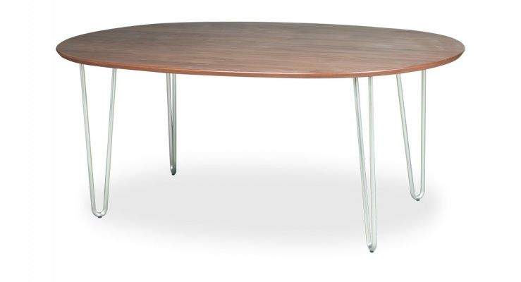 Wood Top Oval W Hairpin Legs Decoracao