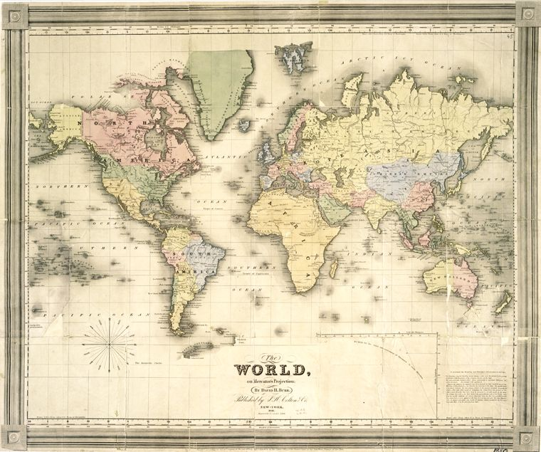photograph about Printable Vintage Maps referred to as Pin upon Planet Map Mural