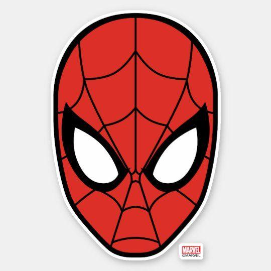 Pegatina Icono de la cabeza del hombre araña | Zazzle.com