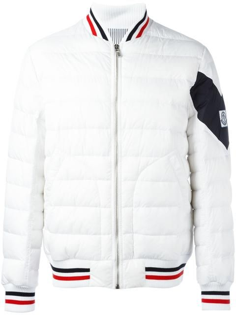cb25df0f9 Shop Moncler Gamme Bleu quilted baseball jacket . | Outerwear in ...