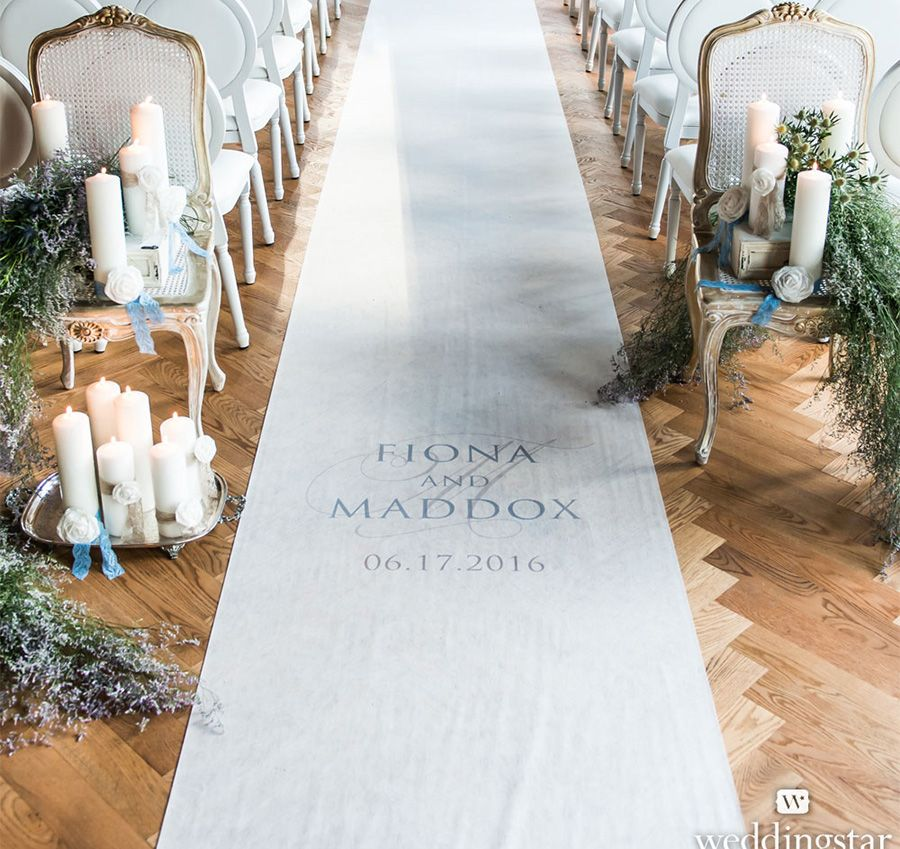 Add A Touch Of Personalization To Your Wedding Ceremony With This Contemporary Vintage Aisle Runner